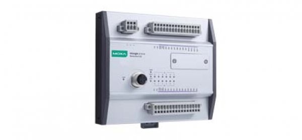 Moxa Railway Remote I/O- Ethernet Remote I/O with M12 connector and 4 DIs, 4 DIOs