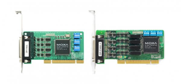 Moxa Universal PCI Cards CP-114UL/UL-I - 4-port RS-232/422/485 Universal PCI Serial Boards with Optional 2 KV Isolation