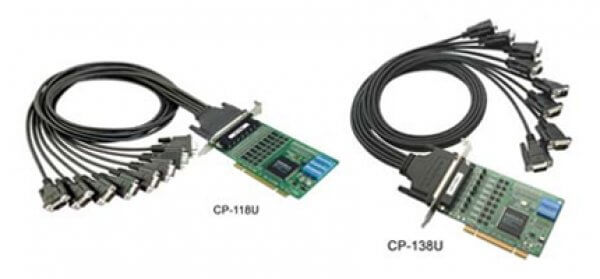 Moxa Universal PCI Cards CP-118U/CP-138U - 8-port RS-232/422/485 Smart Universal PCI Serial Boards