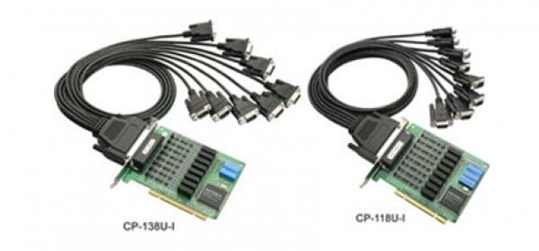 Moxa Universal PCI Cards CP-118U-I/CP-138U-I - 8-port RS-232/422/485 Universal PCI serial boards with 2KV isolation protection