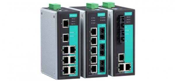 Moxa DIN-Rail Managed Switches EDS-405A/408A Series - 5 and 8-port Entry-level Managed Ethernet Switches