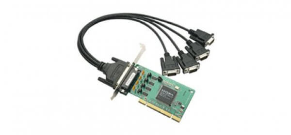 Moxa Universal PCI Cards POS-104UL - 4-port RS-232 Universal PCI Board w/ Serial Port Power
