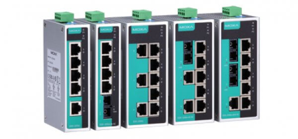 Moxa Unmanaged Ethernet Swtich - EDS-205A/208A - 5 and 8-port Unmanaged Ethernet Switches