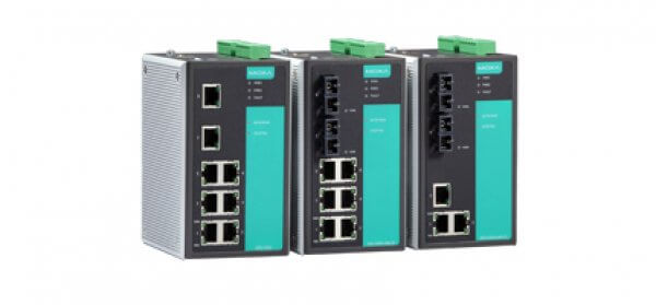 Moxa DIN-Rail Managed Switches EDS-505A/508A Series - Industrial 8- and 5-port Managed Ethernet Switches