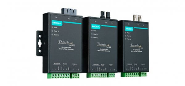 Moxa Serial Media Converters TCF-142 Series - RS-232/422/485 to Fiber Converters