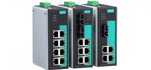 Moxa Unmanaged Ethernet Swtich - EDS-305/308 Series 5 and 8-port unmanaged Ethernet switches