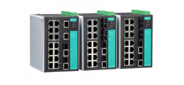 Moxa Managed Ethernet Swtich - EDS-518A Series 16+2G-port Gigabit managed Ethernet switches
