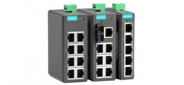 Moxa Unmanaged Ethernet Swtich - EDS-205/208 Series 5 and 8-port entry-level unmanaged Ethernet switches