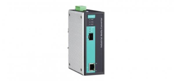 Moxa Ethernet Media Converters - IMC-101G Series Industrial Gigabit Ethernet to fiber media converter