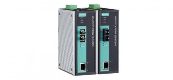 Moxa Ethernet Media Converters - IMC-101 Series Industrial 10/100BaseT(X) to 100BaseFX Media Converters
