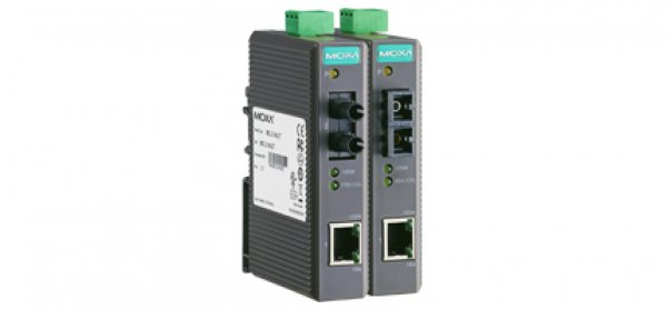 Moxa Ethernet Media Converters - IMC-21 Series Entry-level industrial 10/100BaseT(X) to 100BaseFX media converter