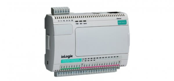 Moxa Ethernet RTU Controller ioLogik-E2212 - Ethernet Micro RTU Controller with 8 digital inputs, 8 digital outputs, and 4 configurable DIO