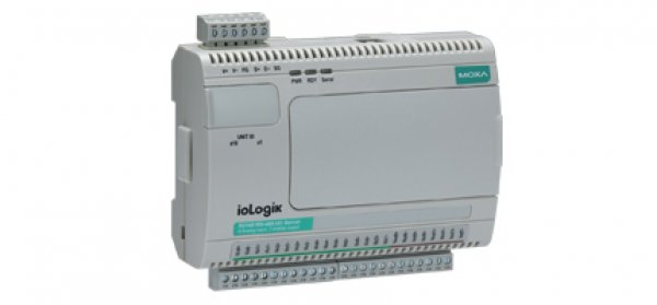 Moxa Industrial I/O ioLogik R2140 - RS-485 remote I/O with 8 analog inputs and 2 analog outputs