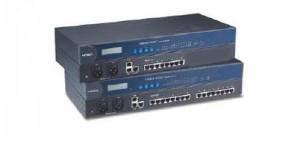 Moxa Terminal Servers - CN2610/2650 Series 8 and 16-port RS-232/422/485 terminal servers with LAN redundancy