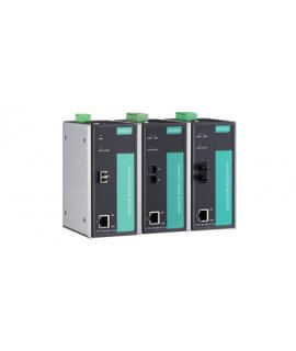 Moxa Ethernet Media Converters - PTC-101 Series IEC 61850-3 and EN 50155 Ethernet-to-fiber media converters