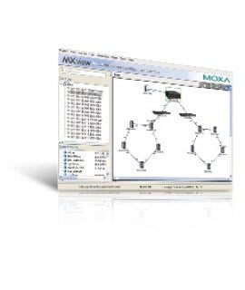 MXview provides a simple live-view toplogy map for your real-time network management, which can support up to 2000 nodes