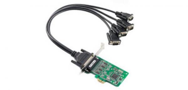 Moxa PCI Express Smart Serial Cards CP-104EL-A - 4-port RS-232 PCI Express Smart Serial Board
