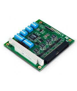 Moxa PC/104 Serial Cards CA-114 - PC/104, 4-port RS-232/422/485 Multiport Serial Module